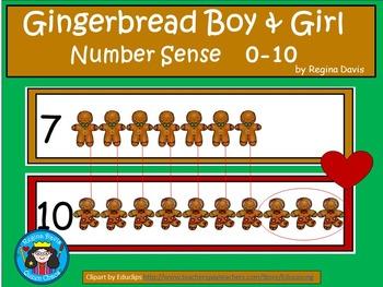 A+ Gingerbread Boy & Girl ... Number Sense 0-10