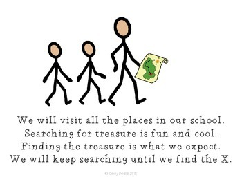 A Cool School Treasure Hunt: A social story to teach people and places at school