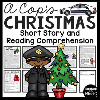 A Cop's Christmas short story- vocabulary, literary terms, multiple choice