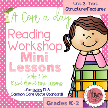 A Core a Day: Reader's Workshop Minilessons- Unit 3: Text Structure and Features