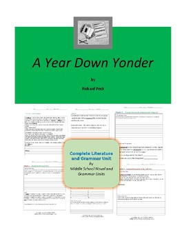 A Year Down Yonder Complete Literature and Grammar Unit