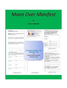 Moon Over Manifest Complete Literature and Grammar Unit