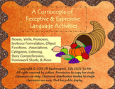 A Cornucopia of Receptive & Expressive Language Activities
