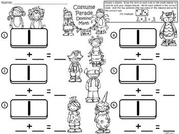 A+ Addition Costume Parade: Domino Math