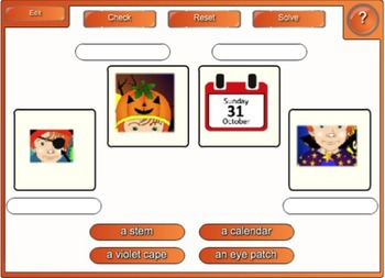 A Costume for Halloween - Vocabulary SMARTboard Games