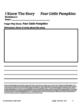 A Counting Finger Play For ELL, ESL, ELD - Four Little Pumpkins