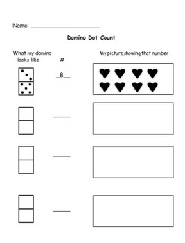 A Counting Worksheet - Domino Dot Count