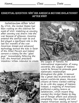 A Country At War: Examining The Roots of Isolationism After WWI