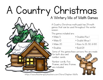 A Country Christmas - A Wintery Mix of Math Games
