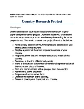 A Country Project