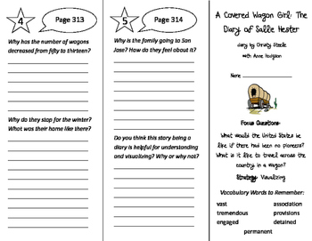 A Covered Wagon Girl Trifold - Imagine It 4th Grade Unit 3 Week 4