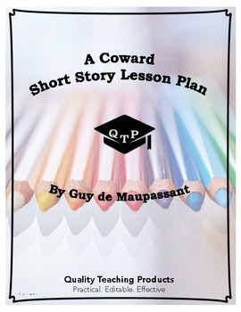 A Coward by Guy de Maupassant Lesson Plan, Worksheets, Questions with Key