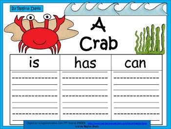 A+  Crab ... Three Graphic Organizers