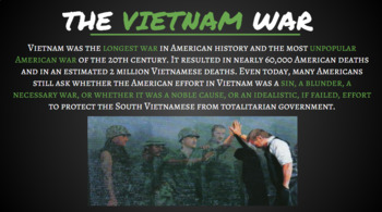 A Crash Course on the Vietnam War - Google Slides Presentation