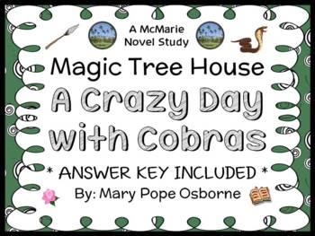 A Crazy Day with Cobras : Magic Tree House #45 Novel Study / Comprehension