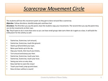 A Creative Drama & Movement Lesson Plan: Autumn Fun with Scarecrows!