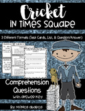Cricket in Times Square Comprehension Questions