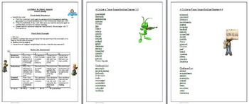 A Cricket in Times Square Spelling Word Study List Activities