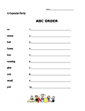 A Cupcake Party - Journeys 1st Grade- ABC Order
