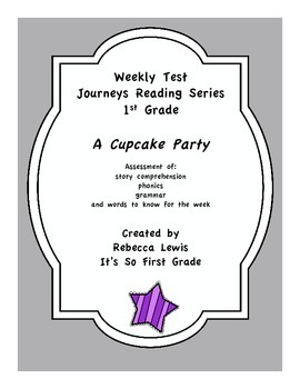 A Cupcake Party Assessment for Journey's Reading Series