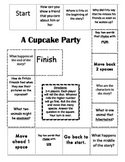 """A Cupcake Party"" Comprehension Game Board- Journeys story 1st grade"