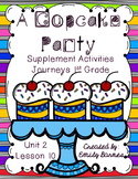 A Cupcake Party Supplement Activities Journeys 1st Grade L