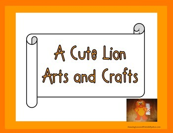 Lion Cut and Paste Arts and Crafts