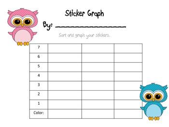 A Cute Sticker Bar Graph