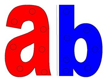 A-D Alphabet Sewing Cards