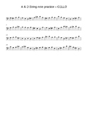 A&D String Note Practice for Beginning Orchestra