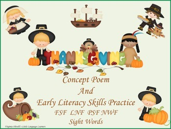 ESL Resource and Activity: Thanksgiving Literacy Skills-ELL Newcomers Too!