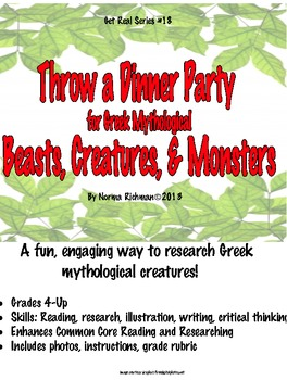 EASY LESSON FOR GREEK MYTHOLOGICAL CREATURES! RESEARCH, WRITE, DRAW! FUN!