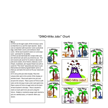 A DINO-Mite Year! Dinosaur Classroom Theme