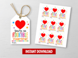A-DOH-able Valentine's Day Card, Play Dough Gift Tags, School Exchange Ideas
