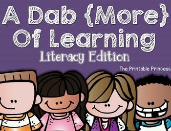 Kindergarten Literacy Centers {Using Bingo Dabbers}