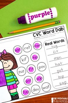 A Dab of CVC Words