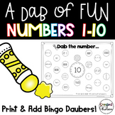 A Dab of Fun {Bingo Dauber Activities for Numbers to 10}