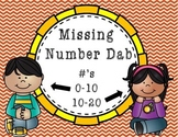 A Dab of Fun! Missing Numbers.