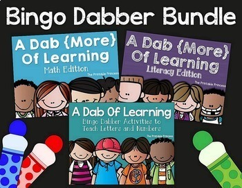 A Dab of Learning BUNDLE {Kindergarten Literacy & Math Bingo Dabber Activities}