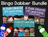 Kindergarten Literacy & Math Bingo Dauber Printables and Activities | BUNDLE