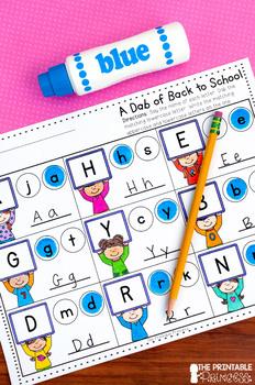 Kindergarten Back to School Literacy & Math Activity Pages NO PREP