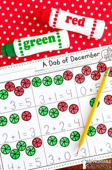 December NO PREP Pages {Literacy and Math Activities for Kindergarten}