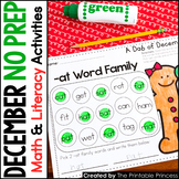 December NO PREP Pages Literacy and Math Activities for Ki