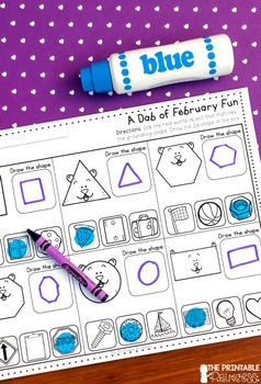 February NO PREP Pages {Literacy and Math Activities for Kindergarten}