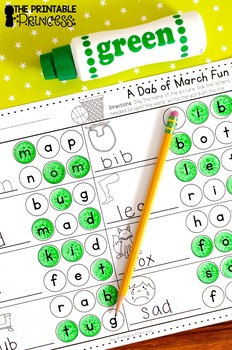 St. Patrick's Day Literacy and Math NO PREP Pages for Kindergarten