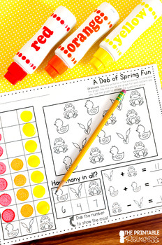 Spring Activities NO PREP Pages {Literacy and Math Activities for Kindergarten}