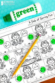 NO PREP Spring Activities {Literacy and Math Activities for Kindergarten}