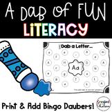 A Dab of Fun {Literacy Printables with Bingo Daubers}