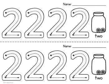 Number Formation Practice: No Prep Bingo Dabbers Pages