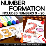 Number Formation Practice: No Prep Bingo Dabbers Pages 0-20